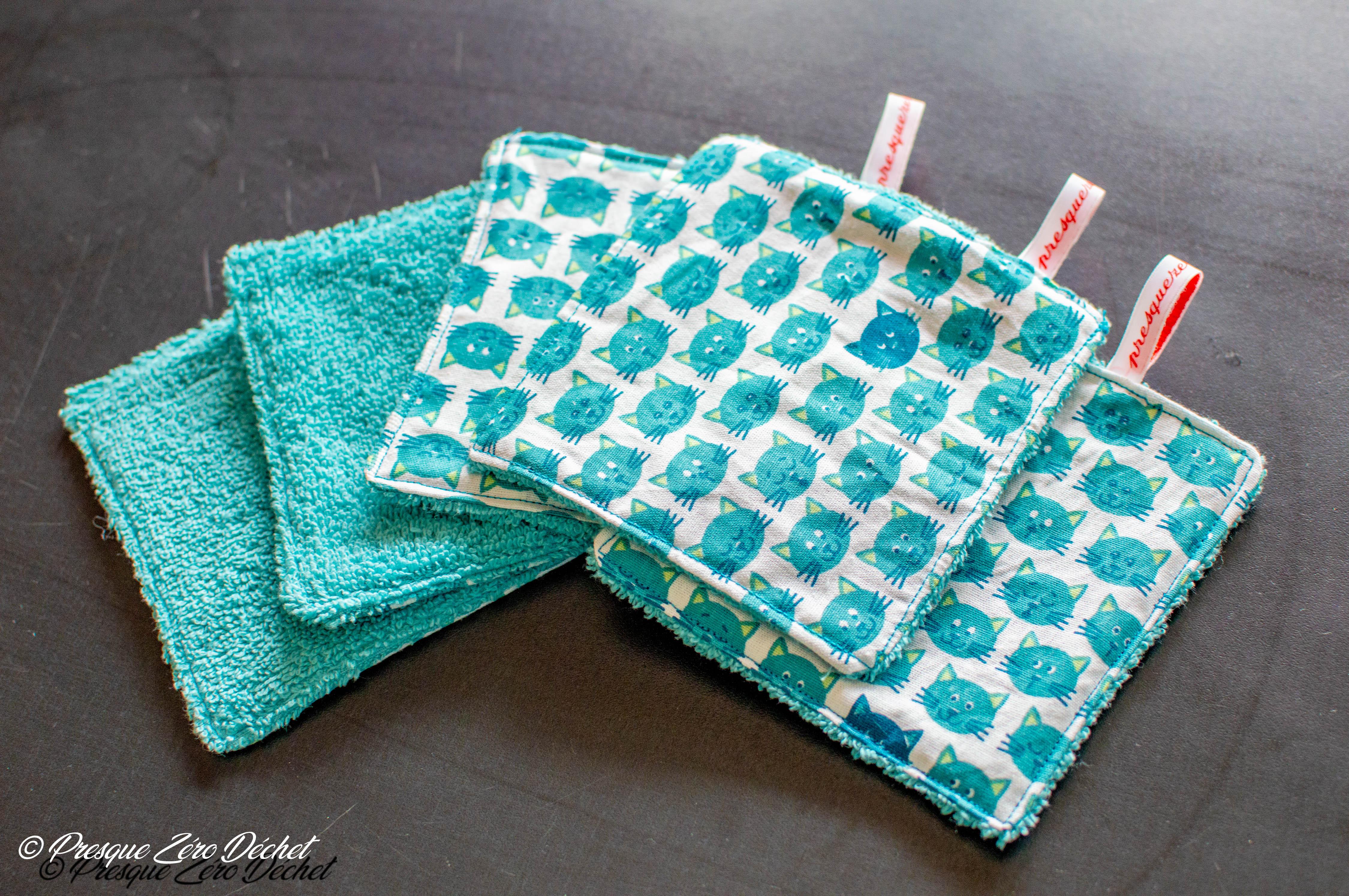 Lingettes, essuie-tout et coton démaquillant lavablemaison
